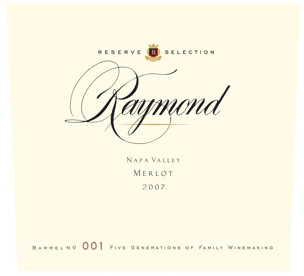 Raymond Reserve Selection Merlot 2007 Front Label
