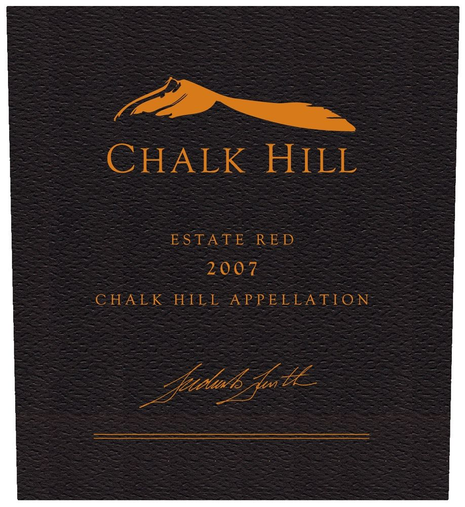 Chalk Hill Estate Red (375ML half-bottle) 2007 Front Label