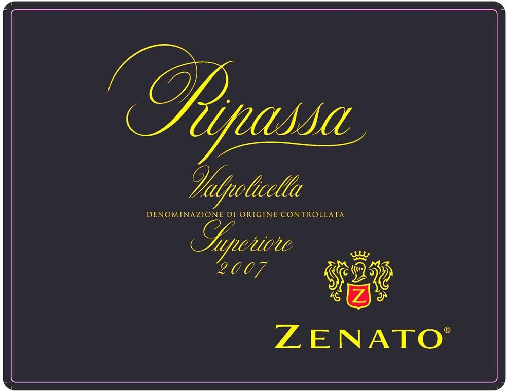 Zenato Valpolicella Superiore Ripassa (375ML half-bottle) 2007 Front Label