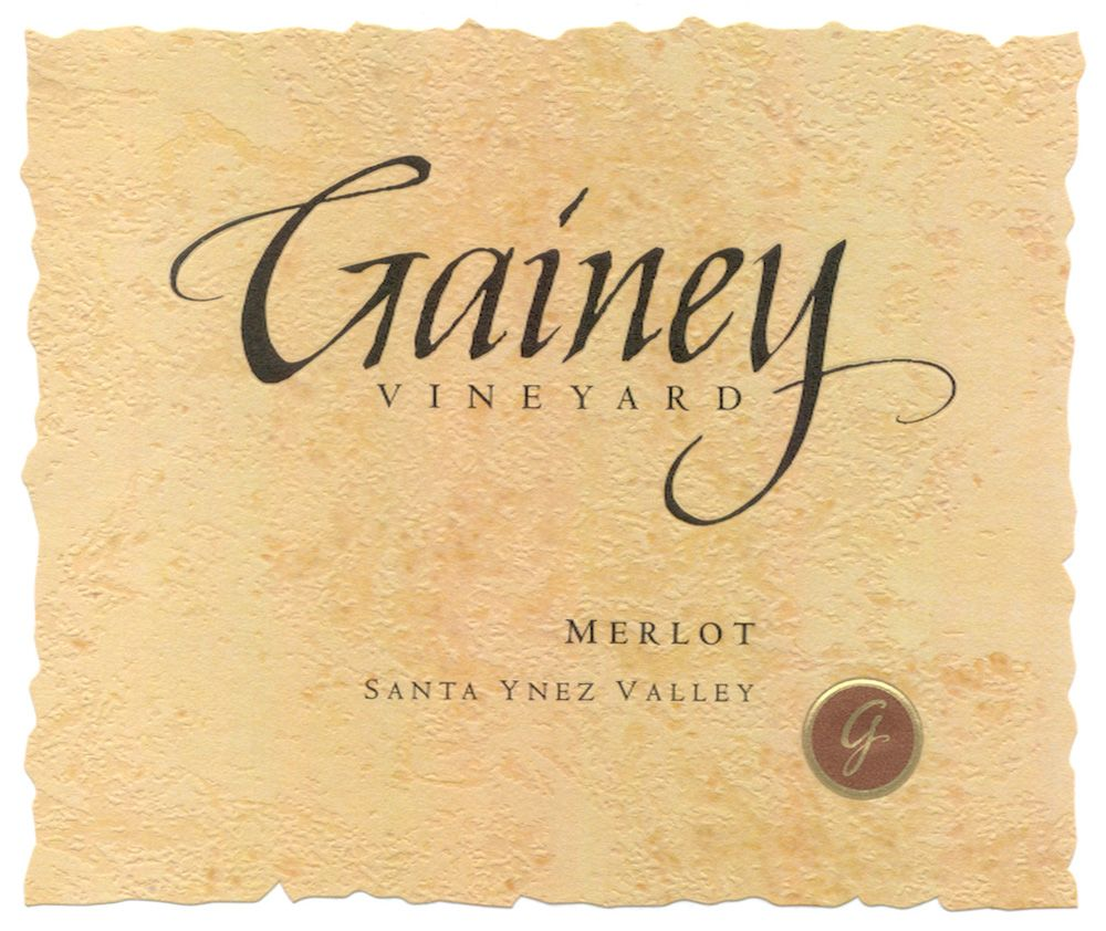 Gainey Merlot 2007 Front Label