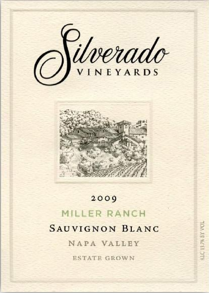 Silverado Miller Ranch Sauvignon Blanc (375ML half-bottle) 2009 Front Label