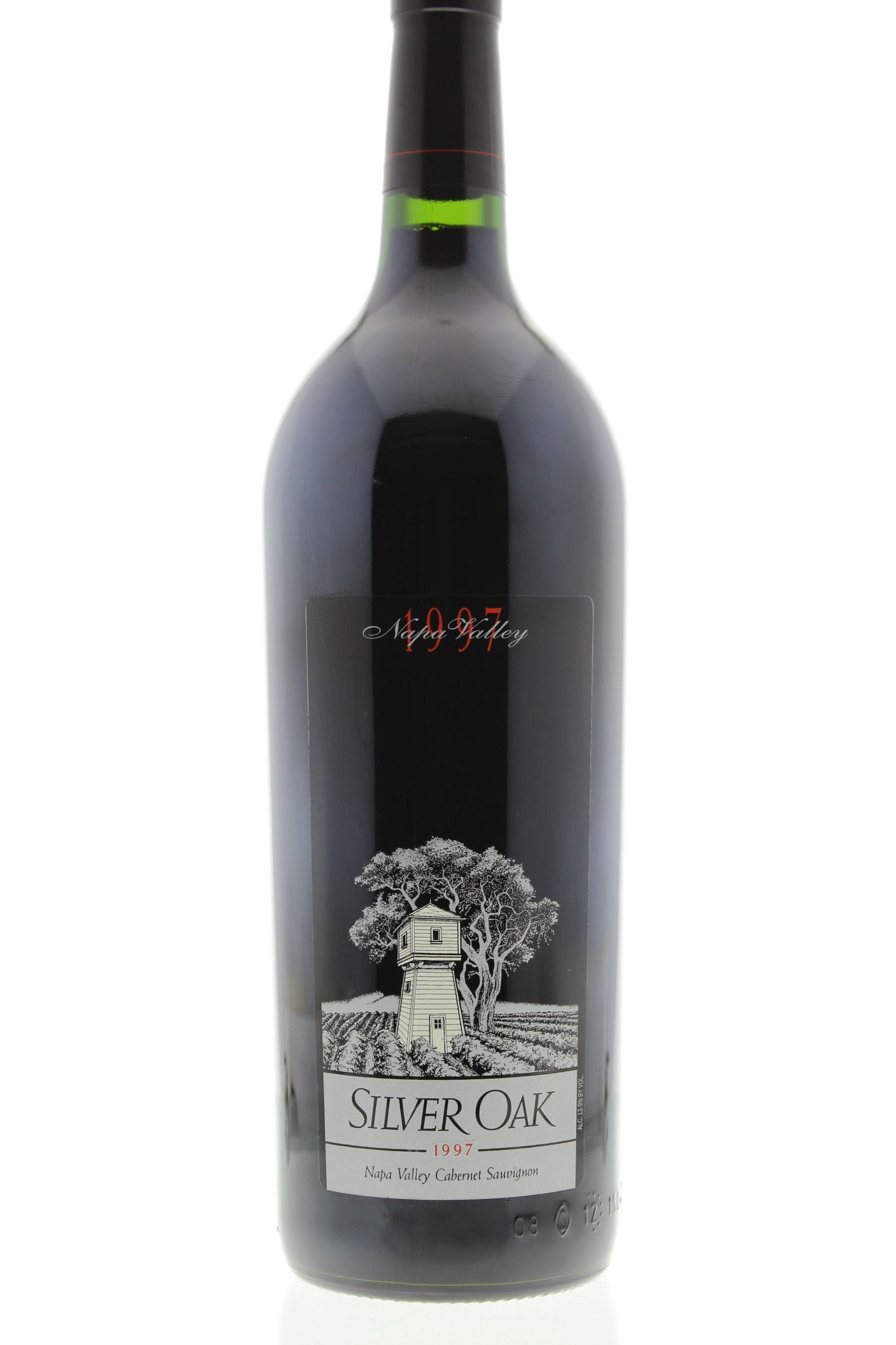 Silver Oak Napa Valley Cabernet Sauvignon (1.5 Liter Magnum) 1997 Front Bottle Shot