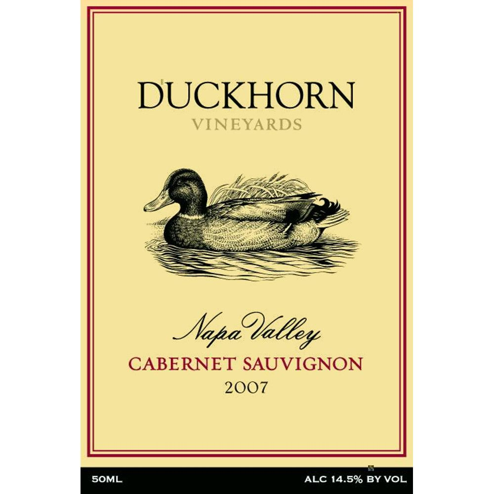 Duckhorn Napa Valley Cabernet Sauvignon (375ML half-bottle) 2007 Front Label