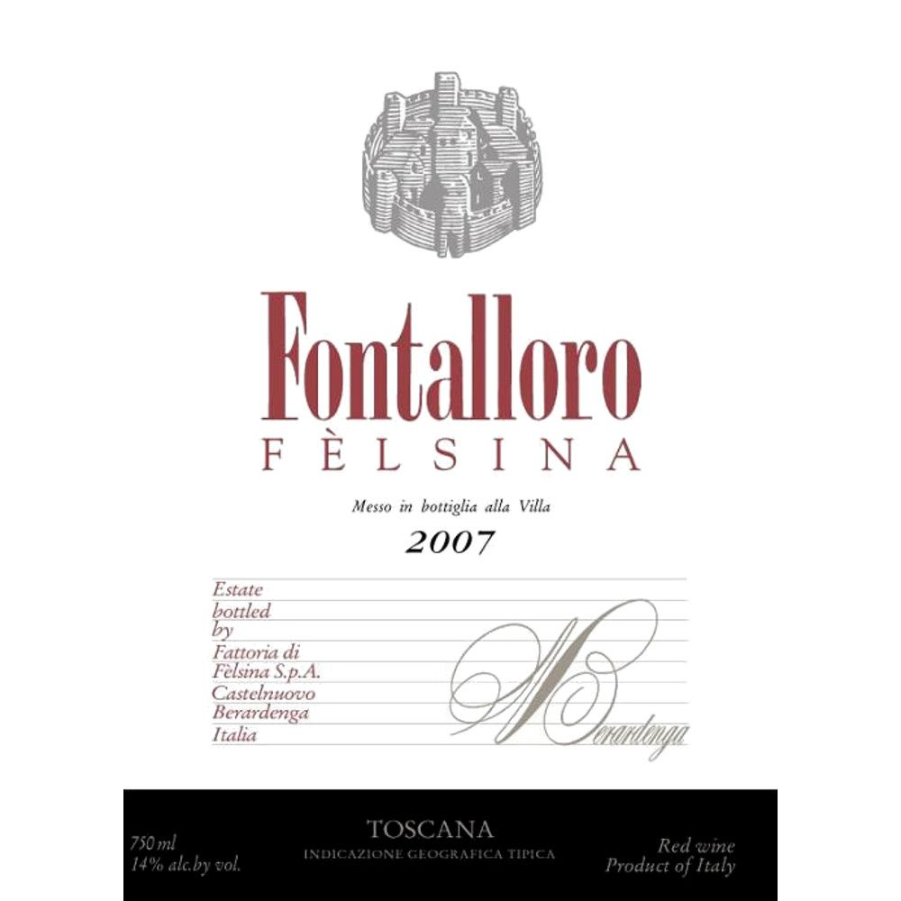 Felsina Fontalloro (375ML half-bottle) 2007 Front Label