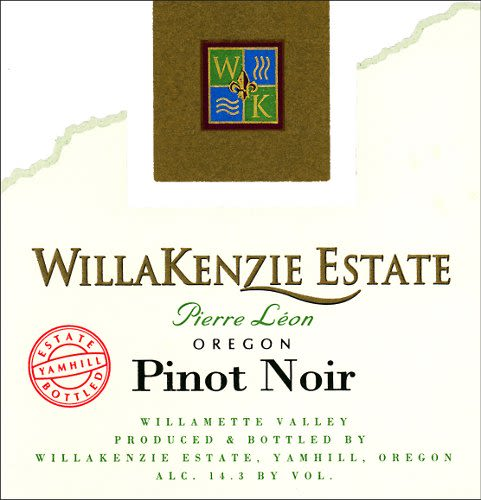 WillaKenzie Estate Pierre Leon Pinot Noir 2008 Front Label