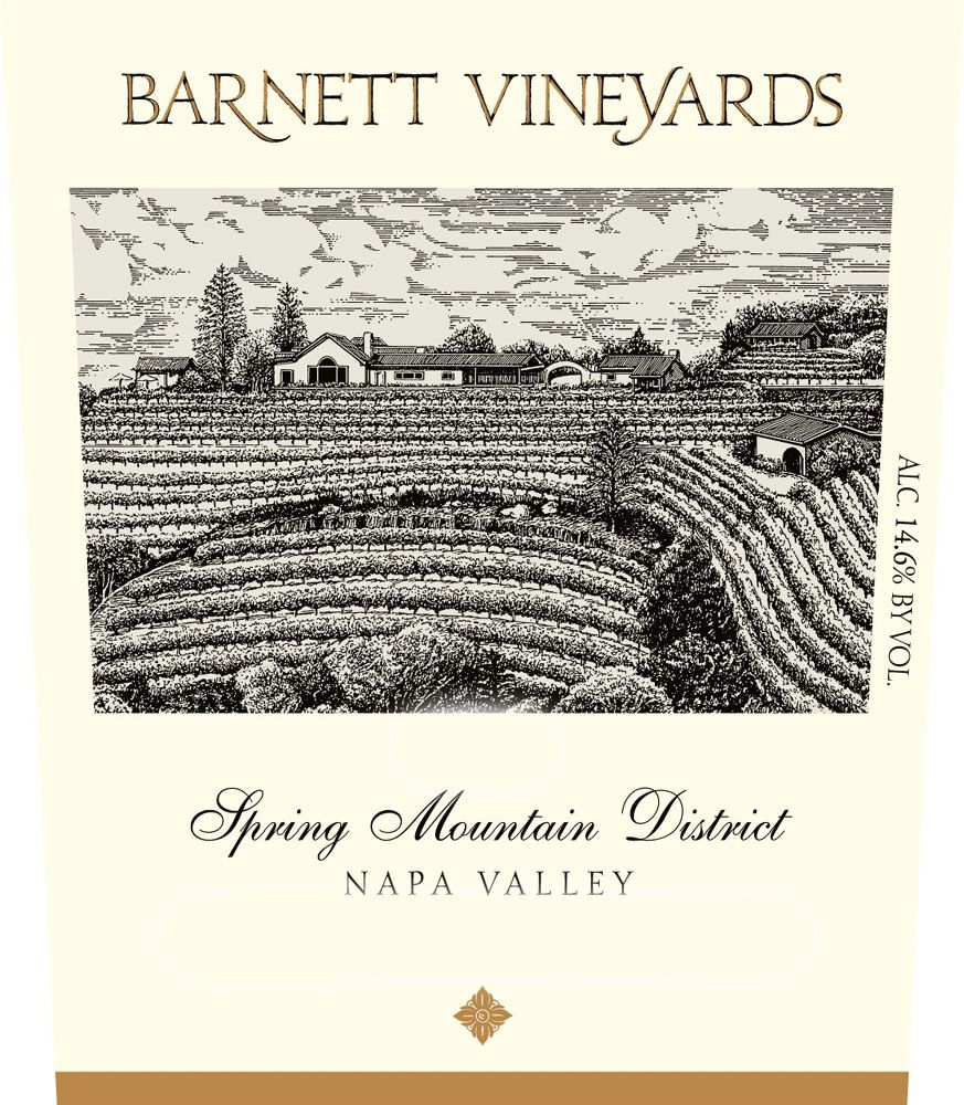 Barnett Vineyards Spring Mountain Merlot (375ML half-bottle) 2007 Front Label