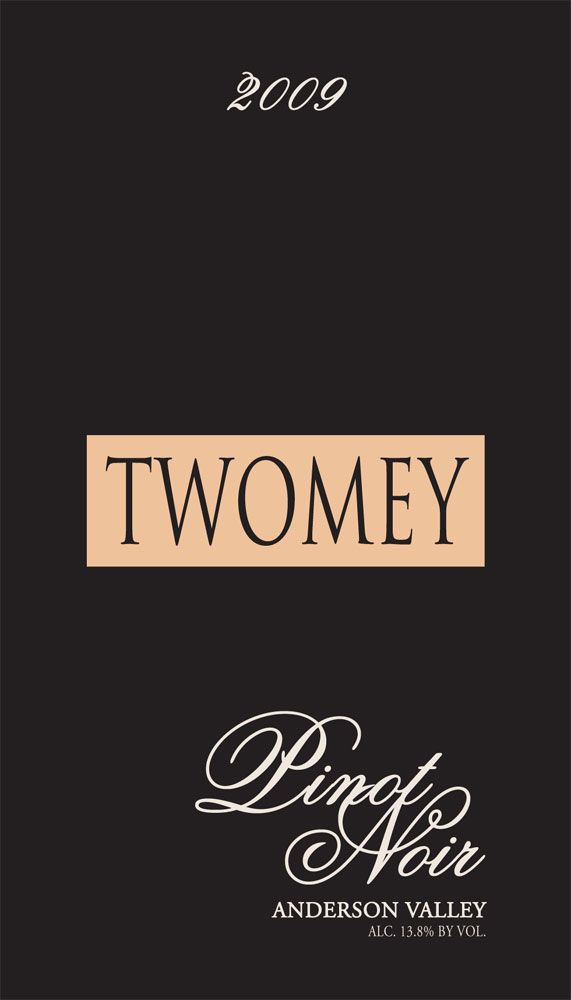 Twomey Cellars by Silver Oak Anderson Valley Pinot Noir 2009 Front Label