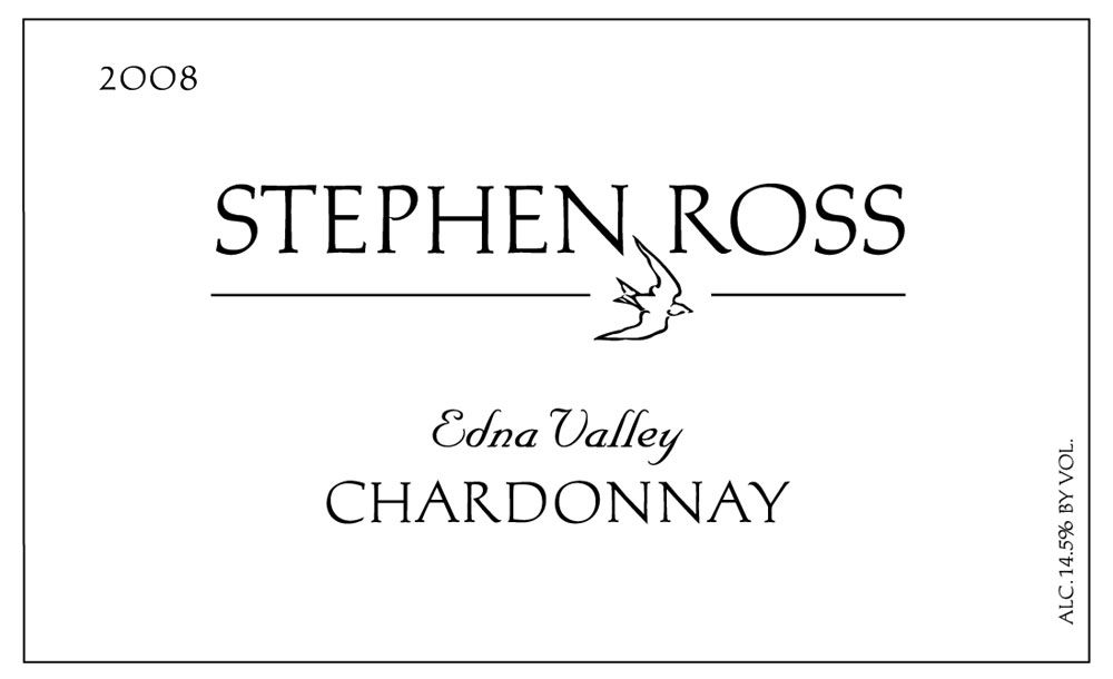 Stephen Ross Edna Valley Chardonnay 2008 Front Label