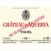Chateau D'Aqueria Tavel Rose 2010 Front Label