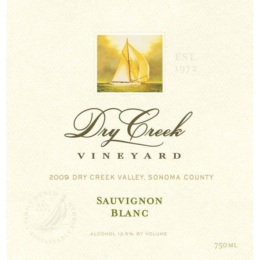 Dry Creek Vineyard Sauvignon Blanc (375ML half-bottle) 2009 Front Label