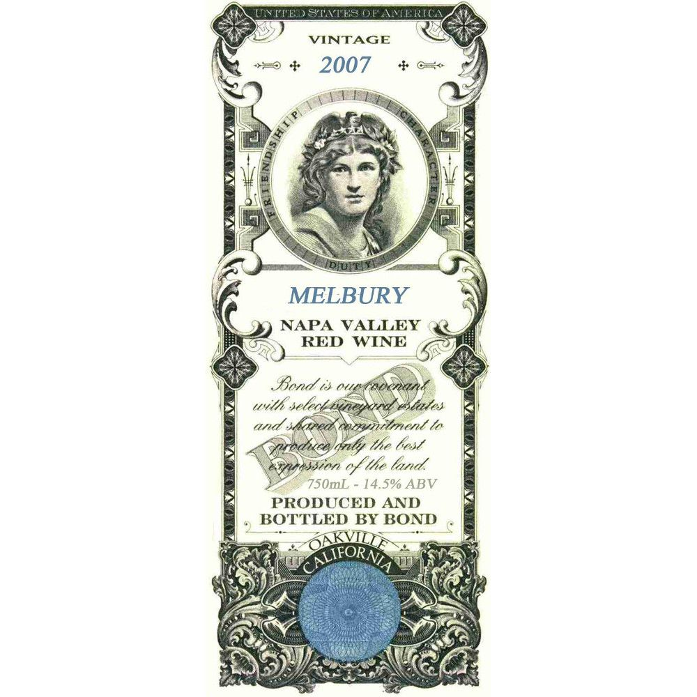Bond Melbury 2007 Front Label