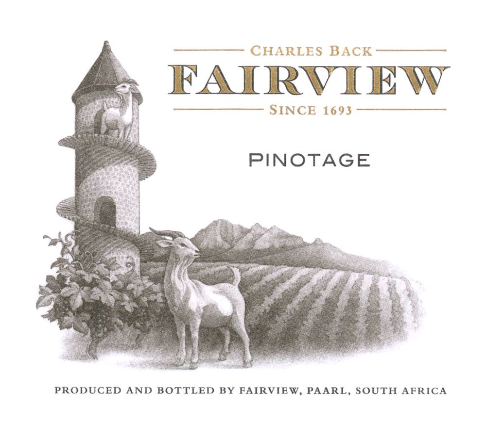 Fairview Pinotage 2010 Front Label