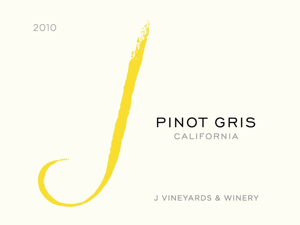 J Vineyards California Pinot Gris 2010 Front Label