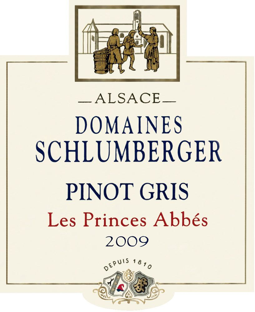 Domaines Schlumberger Les Princes Abbes Pinot Gris 2009 Front Label