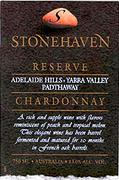 Stonehaven Reserve Chardonnay 1997 Front Label