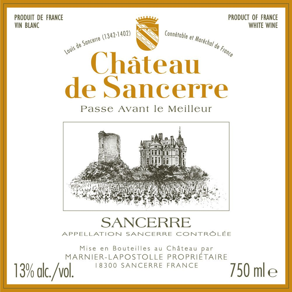 Chateau de Sancerre Blanc 2010 Front Label