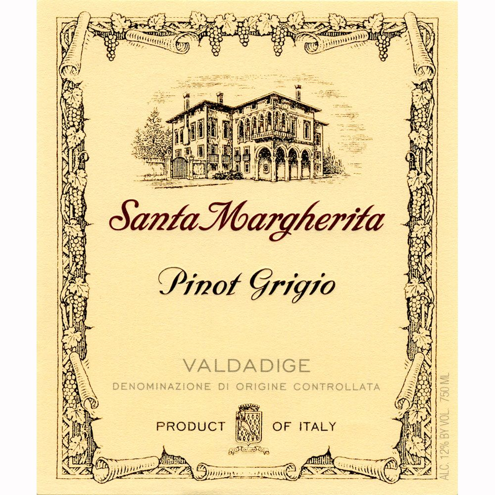 Santa Margherita Pinot Grigio (375ML half-bottle) 2010 Front Label