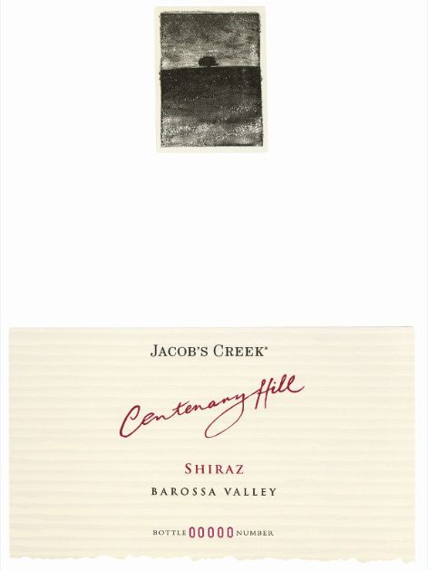 Jacob's Creek Centenary Hill Shiraz 2005 Front Label