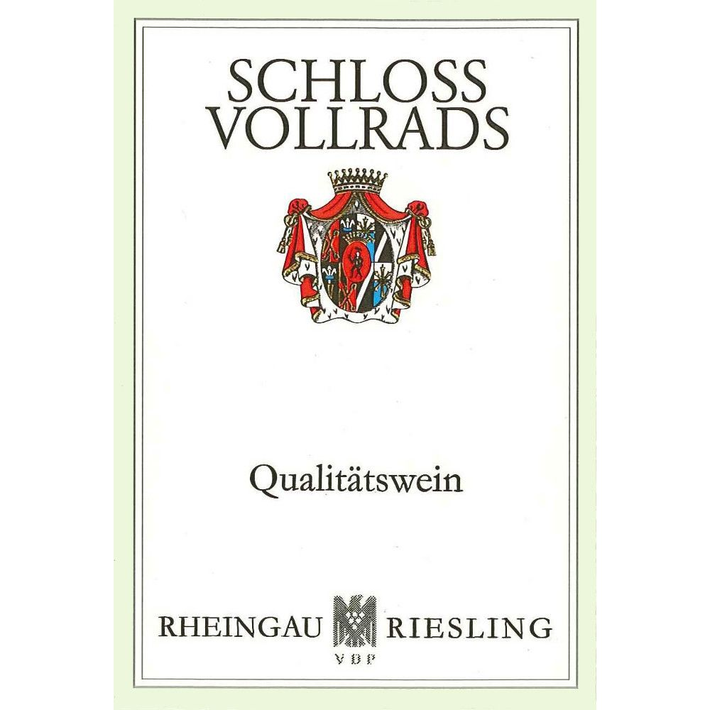 Schloss Vollrads Riesling QbA 2010 Front Label