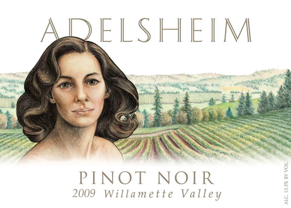 Adelsheim Pinot Noir (375ML half-bottle) 2009 Front Label