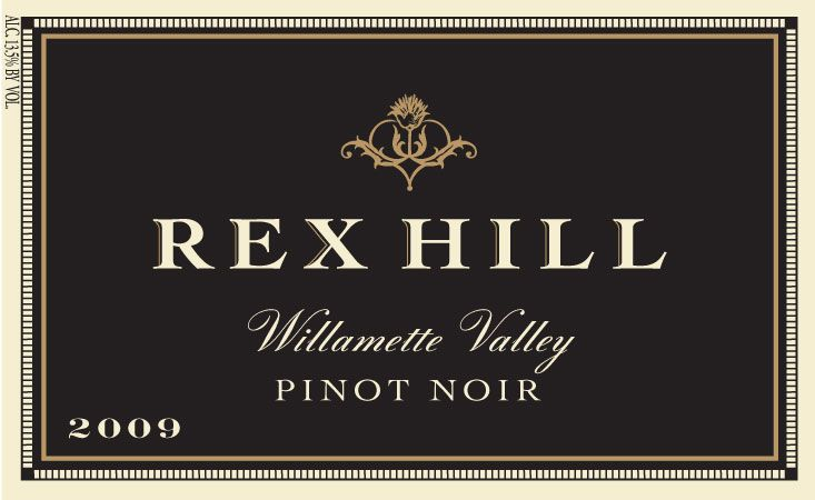 Rex Hill Willamette Valley Pinot Noir 2009 Front Label