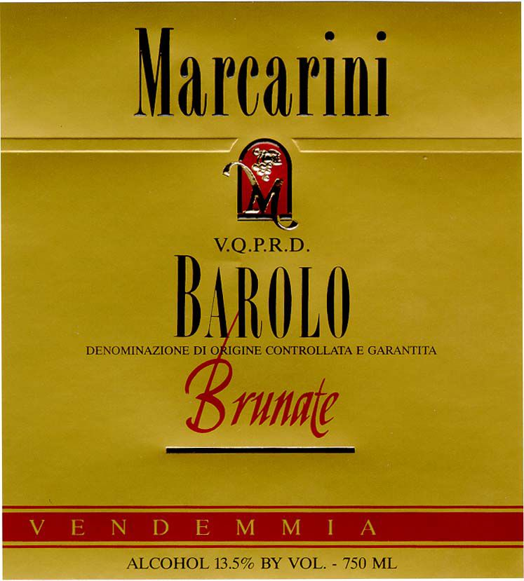 Marcarini Barolo Brunate 2007 Front Label