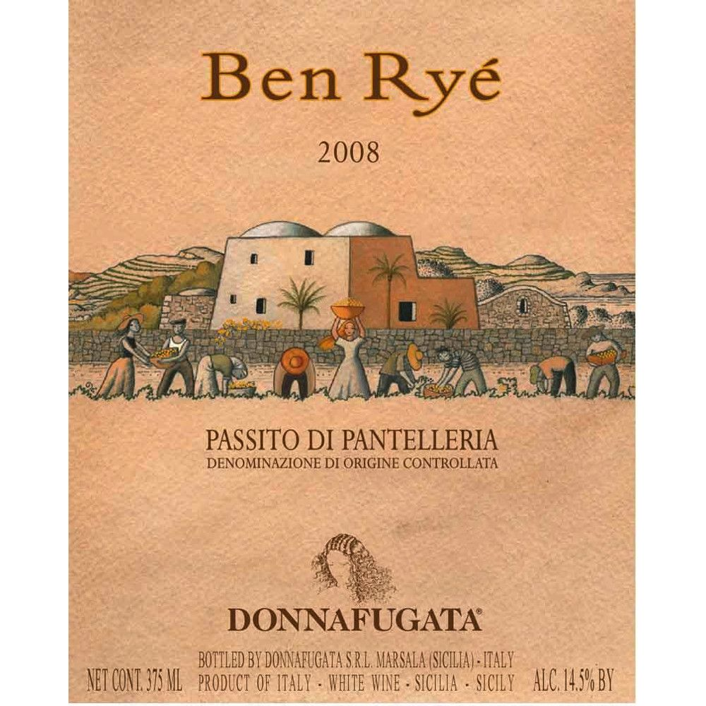 Donnafugata Ben Rye (375ML half-bottle) 2008 Front Label