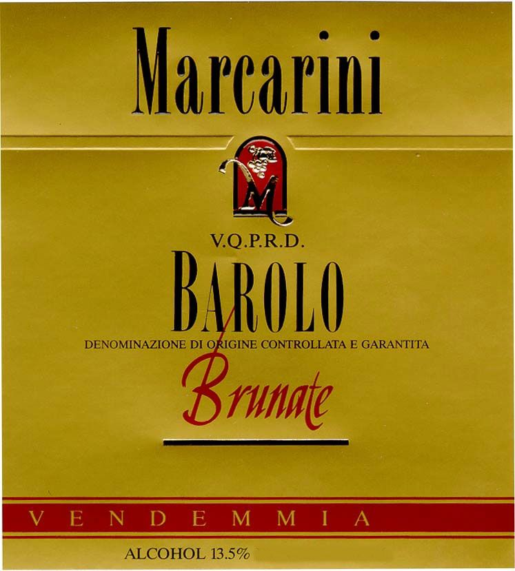 Marcarini Barolo Brunate (375ML half-bottle) 2007 Front Label