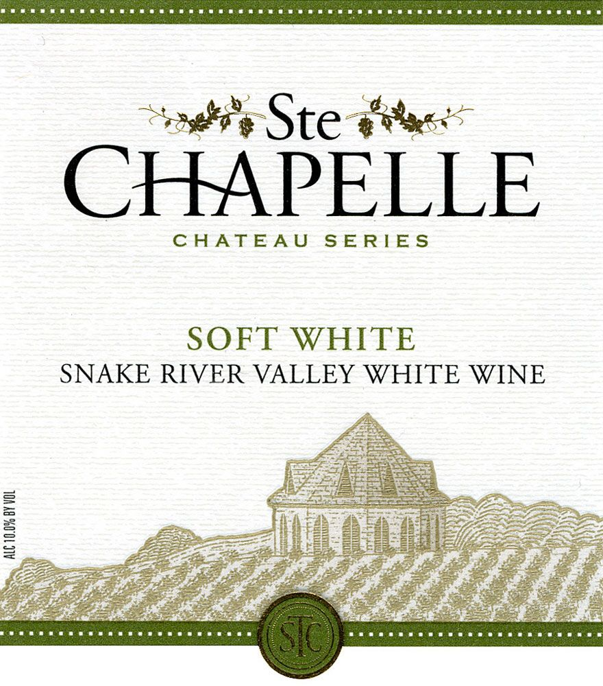 Ste. Chapelle Soft White 2008 Front Label
