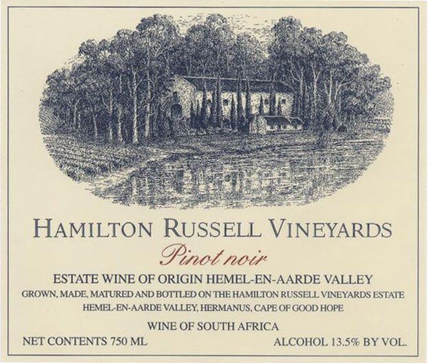 Hamilton Russell Pinot Noir 2009 Front Label