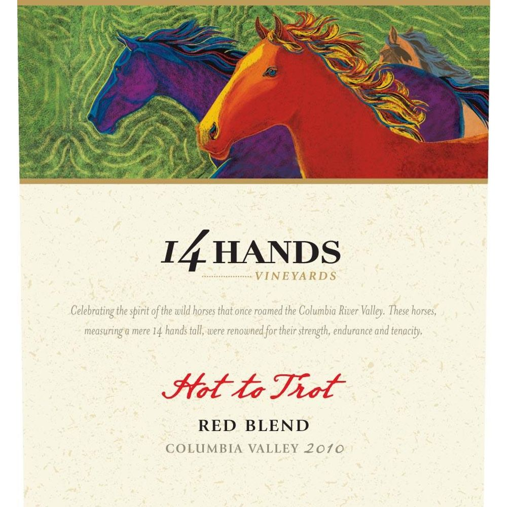 14 Hands Hot to Trot Red Blend 2010 Front Label