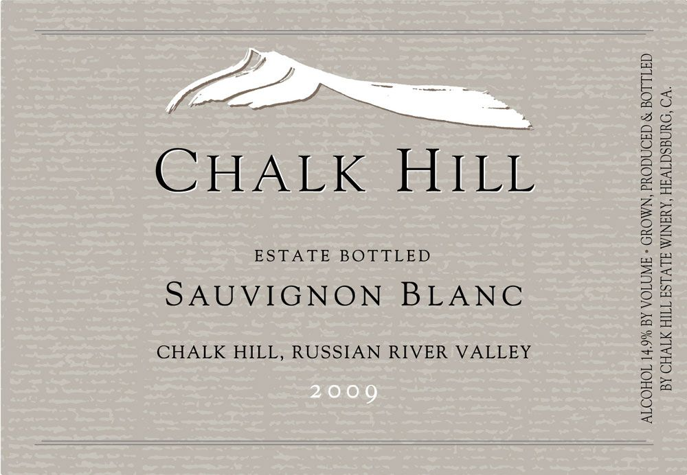 Chalk Hill Sauvignon Blanc 2009 Front Label