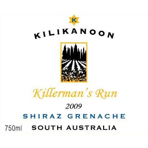 Kilikanoon Killerman's Run Shiraz/Grenache 2009 Front Label