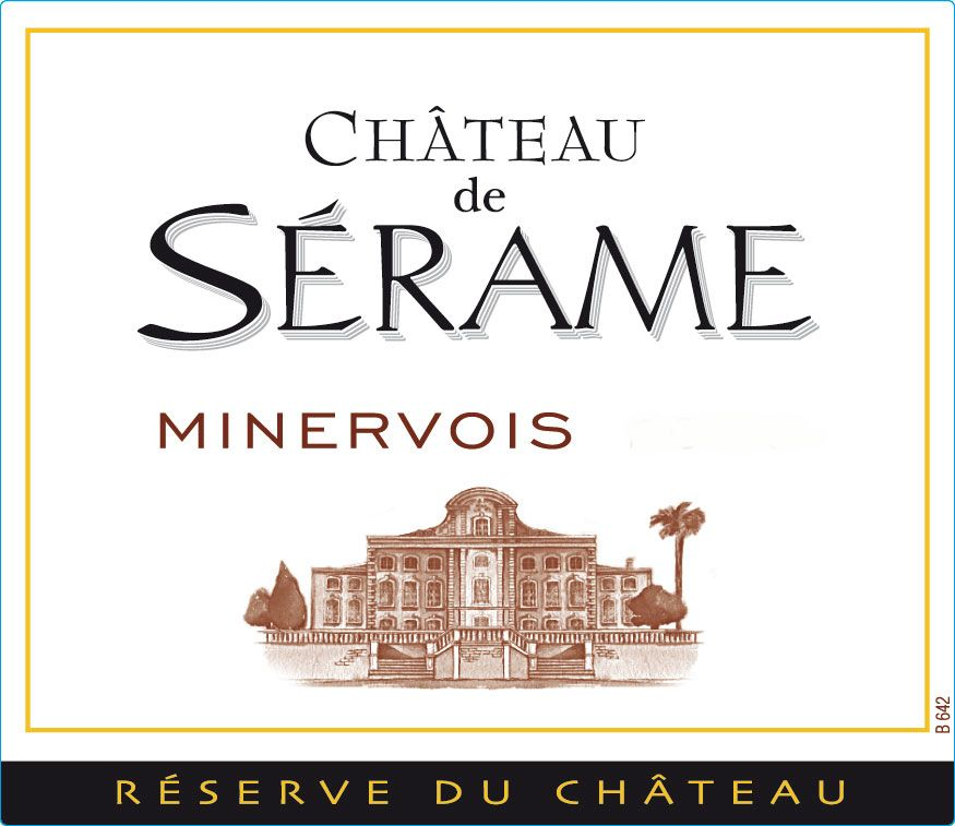 Chateau Serame Minervois 2007 Front Label