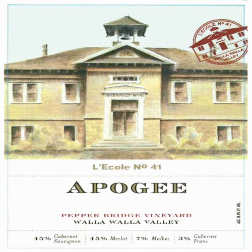 L'Ecole 41 Pepper Bridge Vineyard Apogee 2007 Front Label