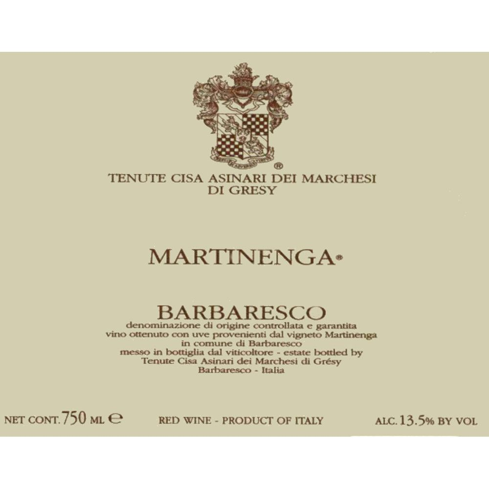 Marchesi di Gresy Barbaresco Martinenga 2006 Front Label