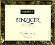Benziger Reserve Chardonnay 1997 Front Label