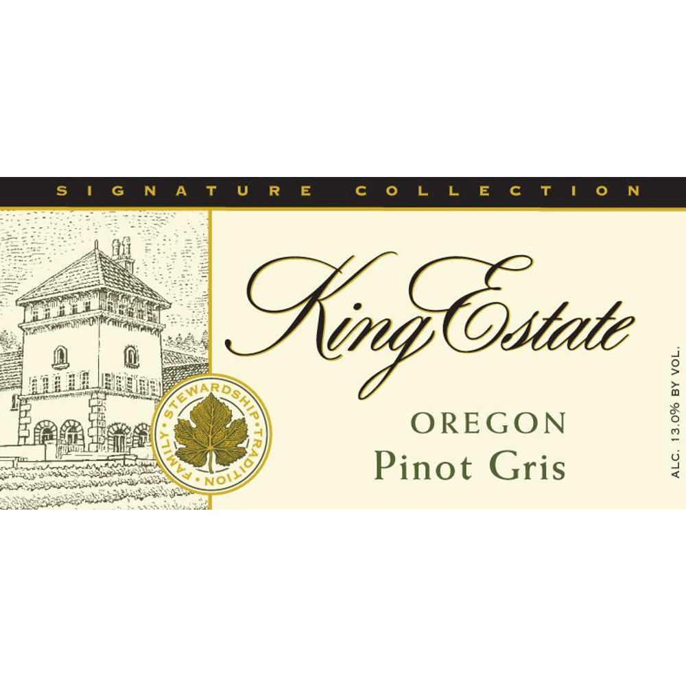 King Estate Signature Collection Pinot Gris 2010 Front Label