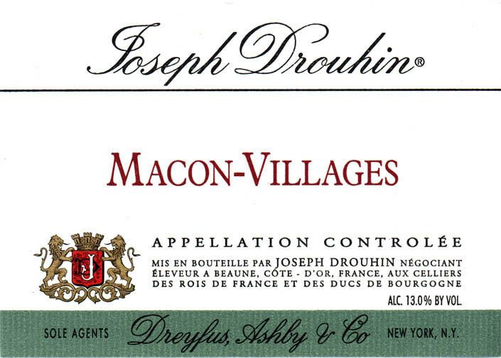 Joseph Drouhin Macon Villages 2010 Front Label