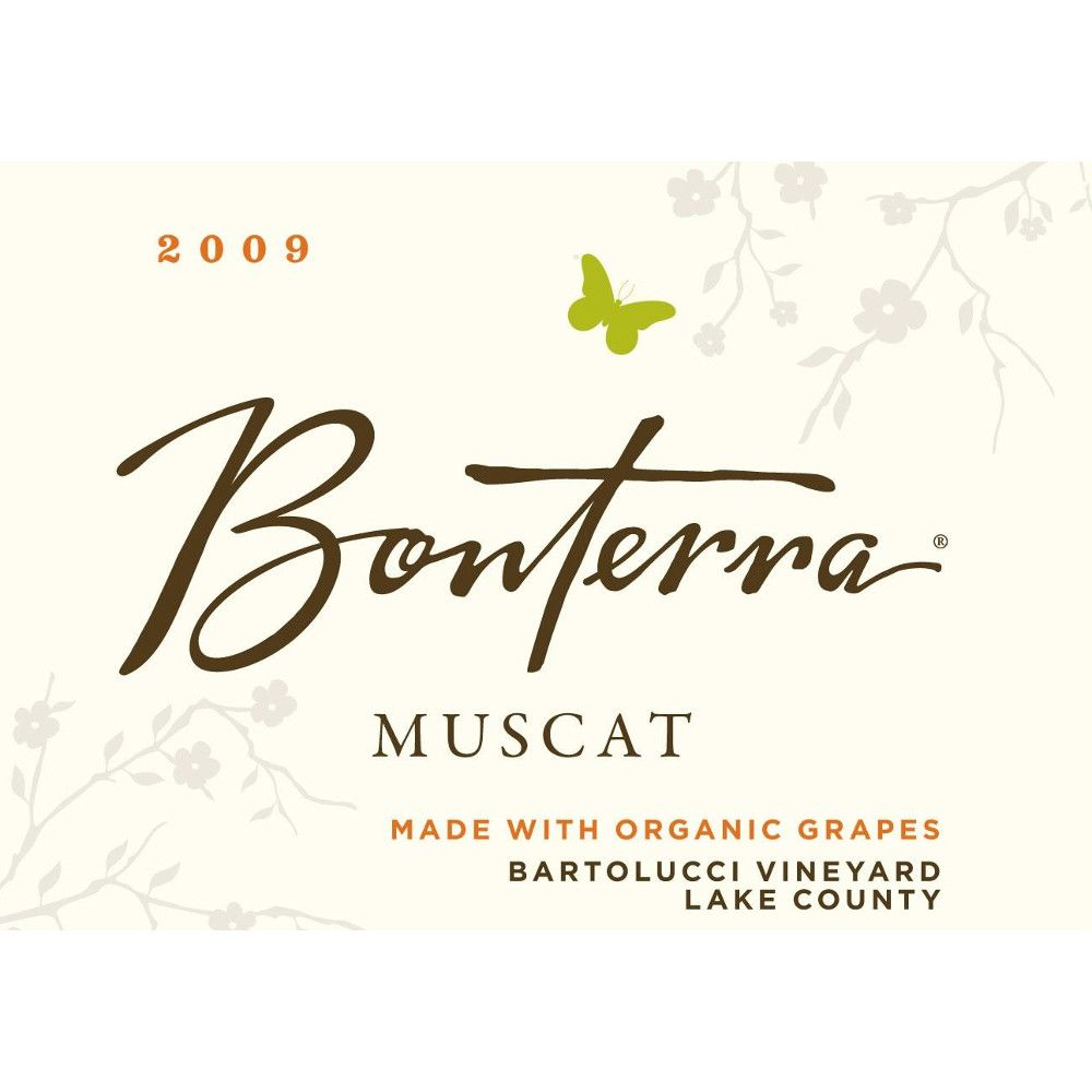 Bonterra Muscat (375ML half-bottle) 2009 Front Label
