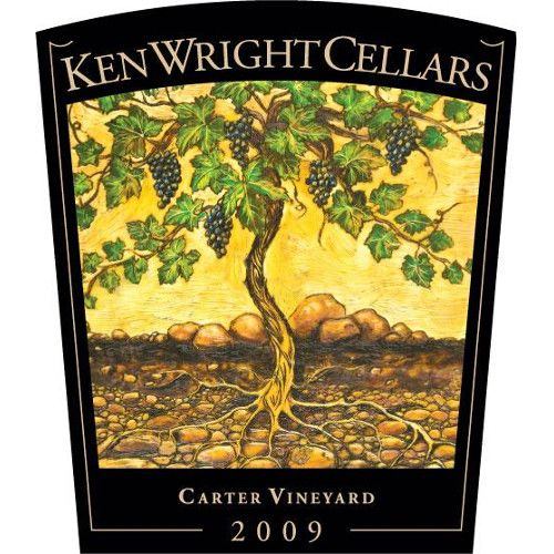 Ken Wright Cellars Carter Vineyard Pinot Noir 2009 Front Label