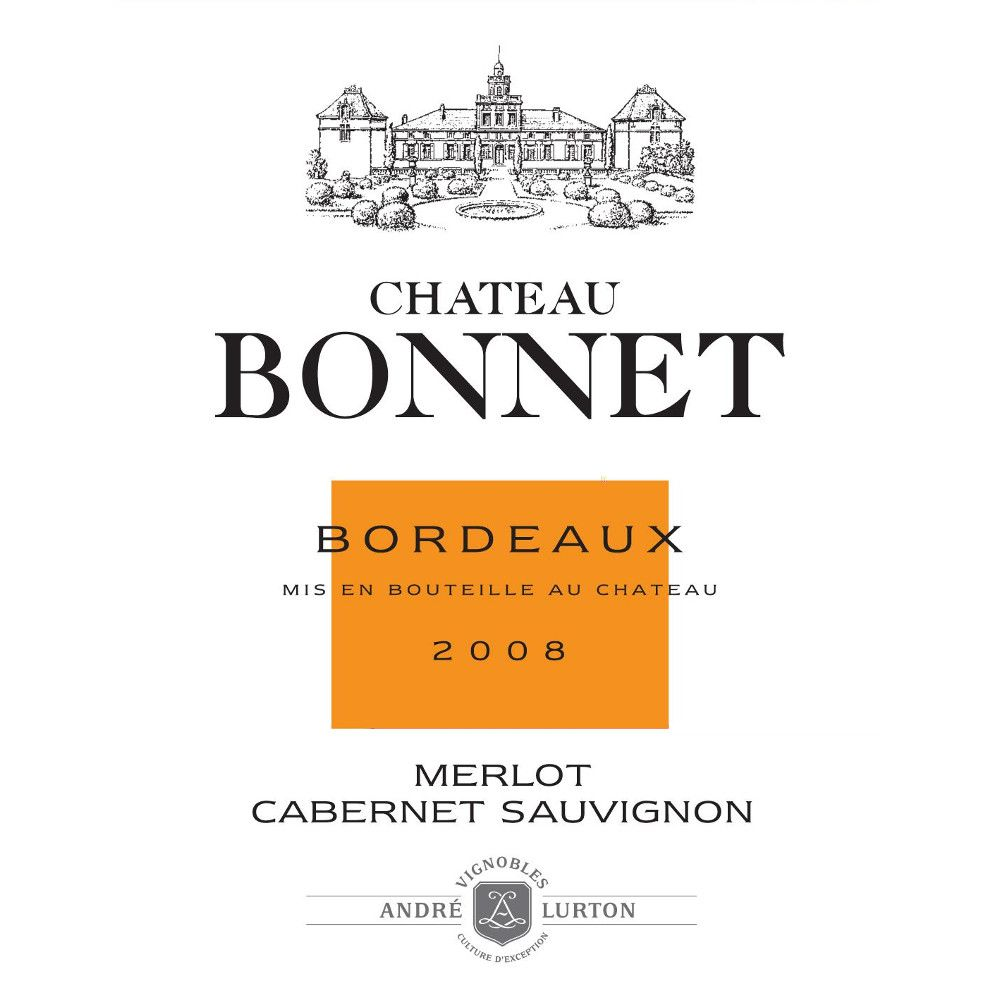 Chateau Bonnet Rouge 2008 Front Label