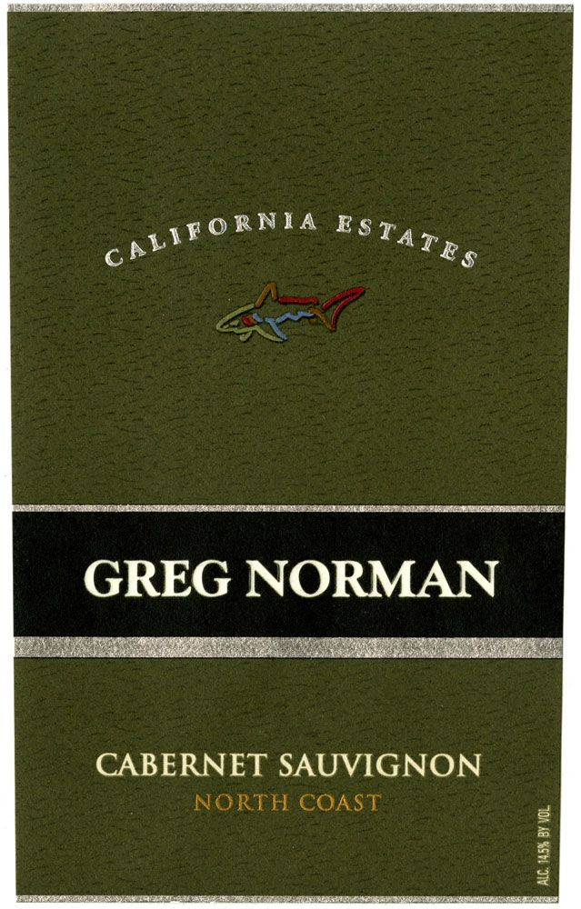 Greg Norman Estates California Estates Cabernet Sauvignon 2009 Front Label