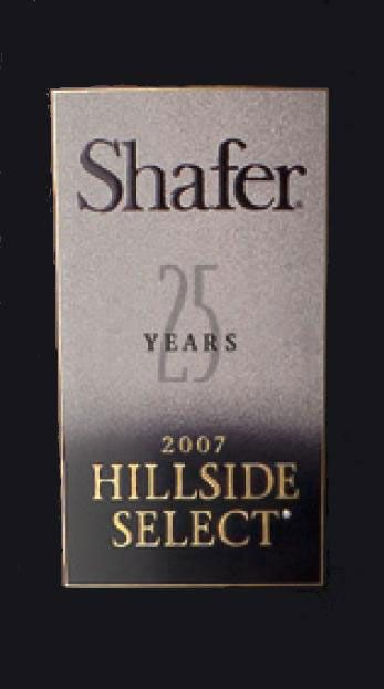 Shafer Hillside Select Cabernet Sauvignon 2007 Front Label