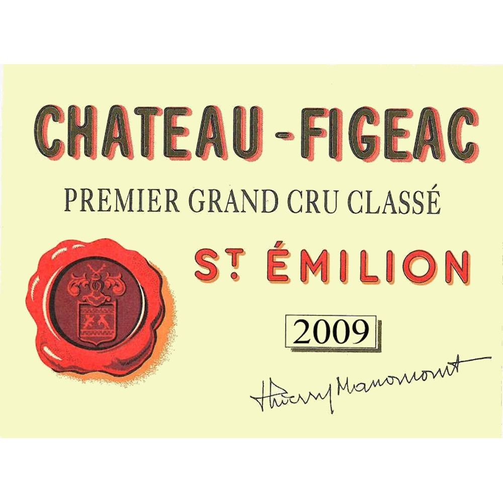 Chateau Figeac  2009 Front Label