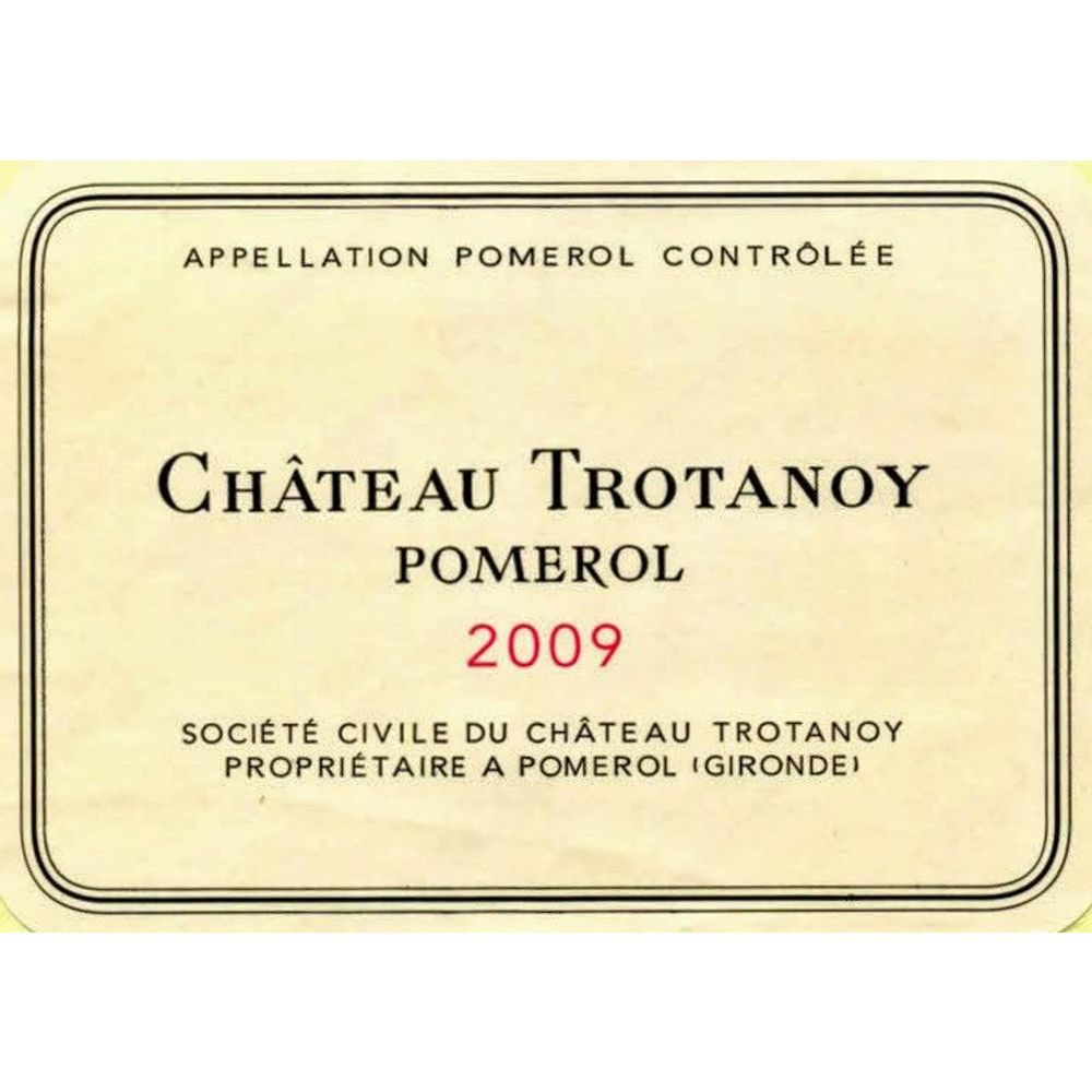 Chateau Trotanoy  2009 Front Label