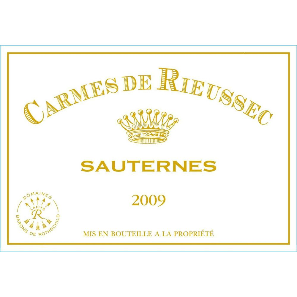 Chateau Rieussec Sauternes (375ML half-bottle) 2009 Front Label