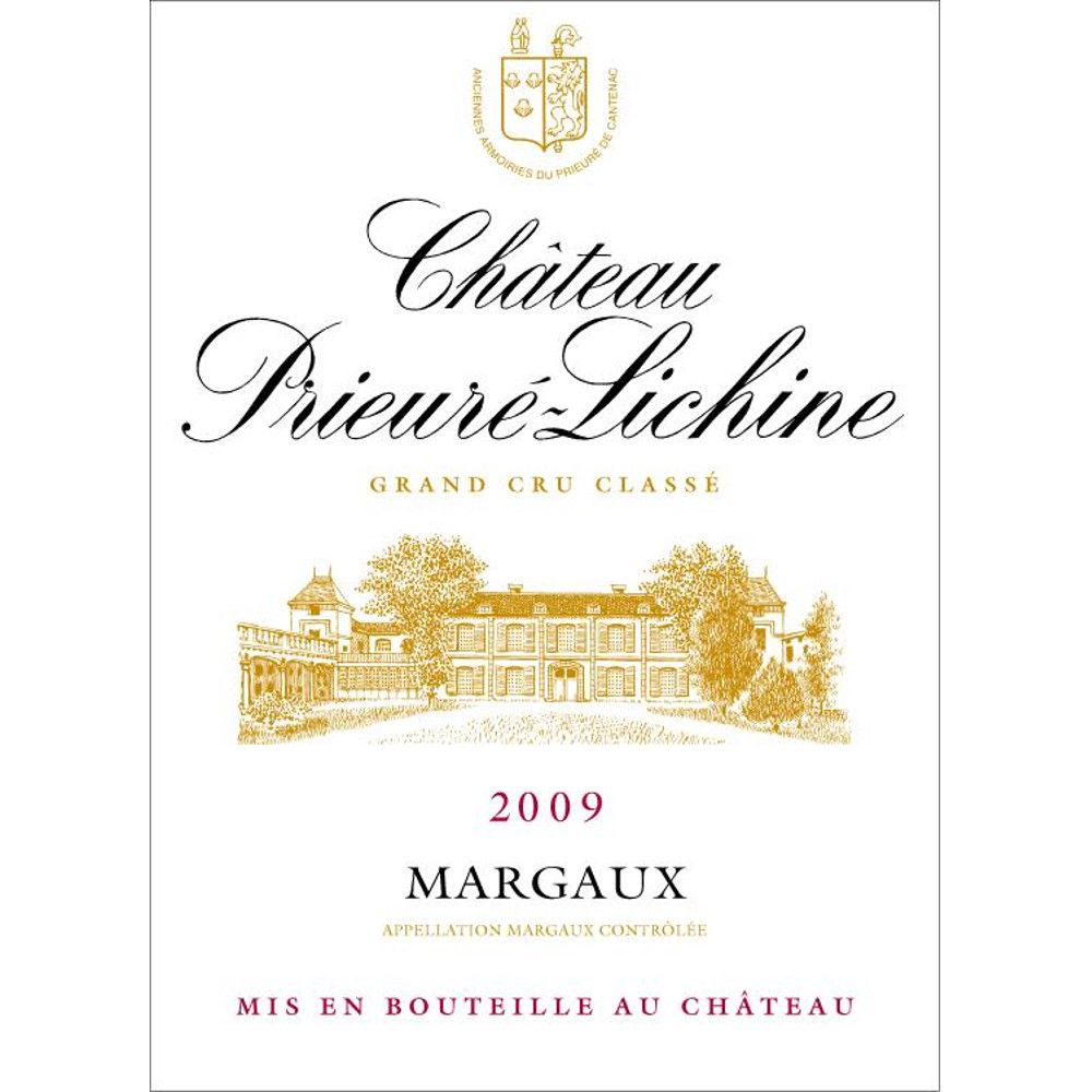 Chateau Prieure-Lichine  2009 Front Label