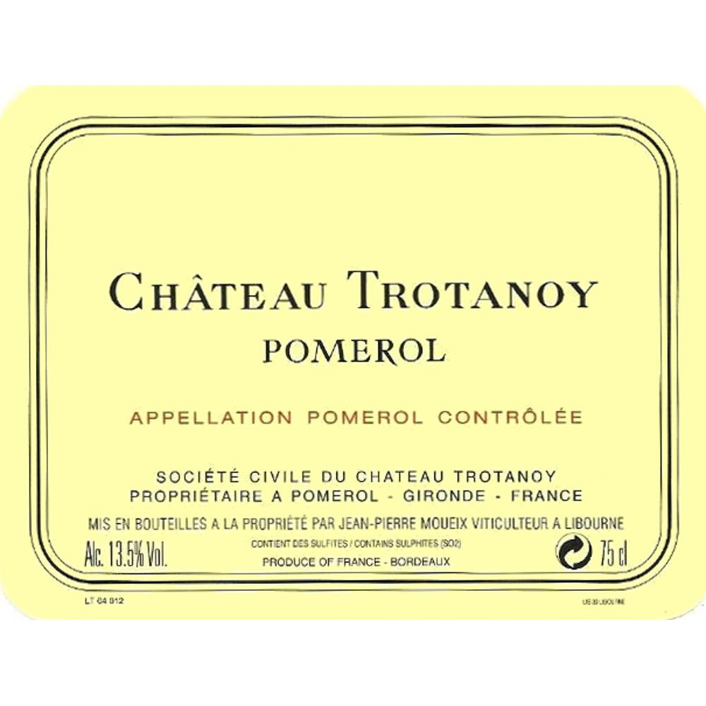 Chateau Trotanoy  2008 Front Label