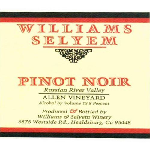 Williams Selyem Allen Vineyard Pinot Noir 2009 Front Label